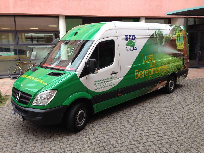 014 - firmenfahrzeug thümer landschaftsbau gmbh - rakelspektakel, Garten und Bauen